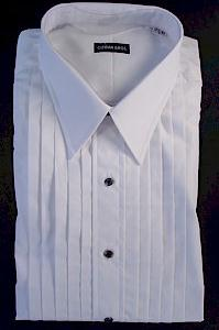 #024723. 18.0 36-37 Tall. WHITE Retail $  99.00 Dress Long Sleeves by GITMAN BROTHERS. TUXEDO POINT 2FOLD FW:  1,