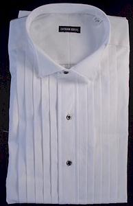 #169336. 17.5 37-38 Tall. WHITE Retail $  99.00 Dress Long Sleeves by GITMAN BROTHERS. TUXEDO WING 2FOLD FW:  1