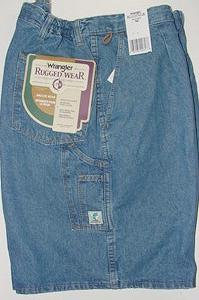 #155508. 54 . BLUE Retail $  38.00 Shorts by WRANGLER. SIDE-ELASTIC DENIM Whs:  3,FW:  1,
