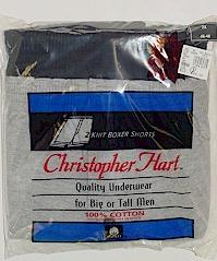 #286192. 3XL BIG. ASST HEATHER KNIT BOXERS Underwear by CHRISTOPHER HART. Whs A:  1