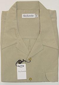 #150833. XL TALL. KHAKI Retail $  99.00 Short Sleeve Updated by GUY LAROCHE. MICROFIBER CAMP SHIRT FW:  1