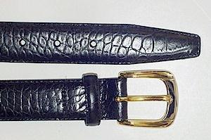 #266222. 60 . BLACK Retail $  39.00 Belts by MARK WOLF. ITALIAN TOP GRAIN EMB FW:  1