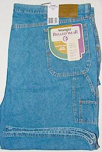 #275749. 48 . BLUE Retail $  36.00 Shorts by WRANGLER. VINTAGE CARPENTER Whs A:  2 FW:  1