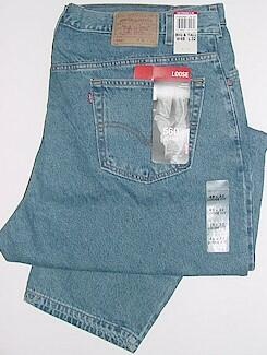 #125026. 52 34. BLUE Retail $  64.00 Cotton Jean by LEVI STRAUSS. 560 COMFORT FIT&#153 <font face=arial size=2><BR>Special Order Item.</font> <B>Item stocked by Levis.  Allow 2-3 weeks for delivery.</B>