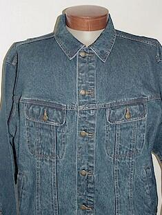 #006017. 4XL BIG. INDIGO Retail $  55.00 Outerwear by WRANGLER. DENIM JACKET FW:  1,