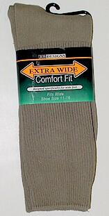 #191452.  . TAN Retail $   9.99 King Sized Socks by EXTRA WIDE SOCK. KING-SIZE X-WIDE Whs A: 39 FW:  1