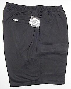 #253307. 5XL BIG. BLACK Retail $  48.00 Fleece Shorts by LD SPORT. FR TERRY CARGO SHORT FW:  1,