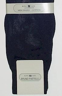 #196608.  . BLACK Retail $  10.00 King Sized Socks by BRUNO PIATTELLI. SOLID KING SIZE Whs A: 16 FW:  1