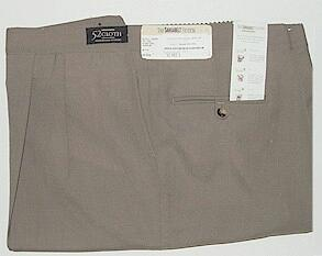 #156514. 60 REG. TAUPE Retail $  79.00 Dress Pants by SANSABELT. 52 CLOTH PLEATED FW:  1   <br><b>This item requires hemming.
