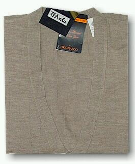 #015673. XL BIG. TAUPE Retail $  59.00 Sweaters by D'AVILA. CARDIGAN WOOL VEST Alpha:  1,