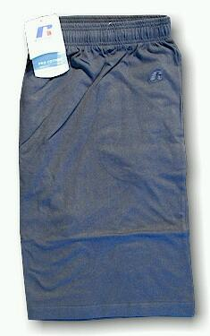 #301912. 3XL BIG. NAVY Retail $  23.00 Fleece Shorts by RUSSELL. JERSEY SHORT Whs A:  1