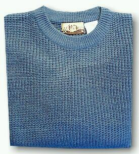 #088576. XL BIG. BLUE Retail $  39.00 Sweaters by WOOD LAND TRAIL. ACRYLIC SHAKER CREW Whs:  4,