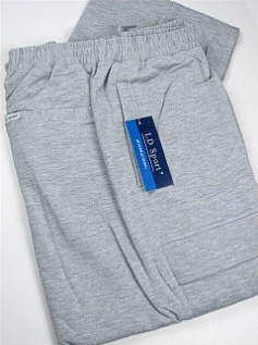 #129833. 4XL BIG. GREY Retail $  55.00 French Fleece Pants by LD SPORT. FR TERRY CARGO PANT Whs A:  5 FW:  1