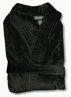 #092494. 6XL BIG. BLACK Retail $ 109.00 Robes by STATE-O-MAINE. TERRY SOLID VELOUR Whs A:  9 FW:  1