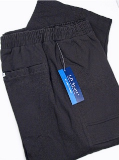 #266150. 6XL BIG. BLACK Retail $  55.00 French Fleece Pants by LD SPORT. FR TERRY CARGO PANT Whs A:  8
