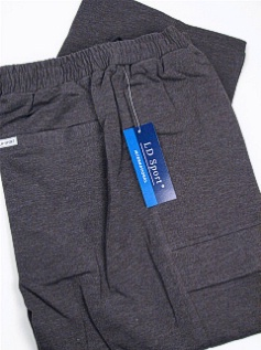 #176202. 6XL BIG. CHARCOAL Retail $  55.00 French Fleece Pants by LD SPORT. FR TERRY CARGO PANT Whs A:  5