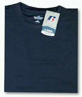 #311830. 4XL TALL. NAVY Retail $  33.00 Dri Power Crew by RUSSELL. DRI-POWER CREW TEE Whs A:  2 FW:  1