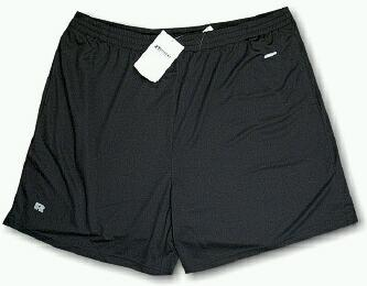 #237677. 5XL BIG. BLACK Retail $  34.00 Dri Power Shorts by RUSSELL. DRI-POWER SHORT Whs A: 18 FW:  1
