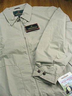 #204112. 4XL TALL. STONE Retail $  64.00 Outerwear by DRIZZLER. MCGREGOR GOLF JACKET Whs A:  3
