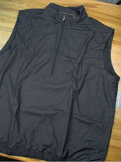 #287562. L TALL. BLACK Retail $  75.00 Outerwear by GREG NORMAN. 1/2 ZIP WINDVEST FW:  1,