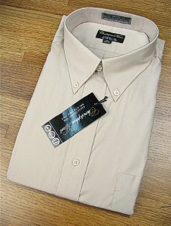 #261980. 18.0 36-37 Big. KHAKI Retail $  48.00 Dress Long Sleeves by CHRISTOPHER HART. ULTIMATE PERFORMANCE FW:  1,