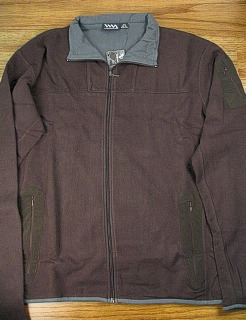 #139809. XL TALL. CHOCOLAT Retail $  40.00 Athletic Crew by WHITE MOUNTAIN. SUEDED FLEECE FULLZIP Whs A:  5