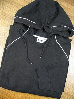 #085968. 2XL BIG. BLACK Retail $  40.00 Athletic Crew by WHITE MOUNTAIN. PULLOVER FLEECE HOODY FW:  1