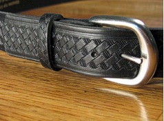 #217075. 62 . BLACK Retail $  35.00 Belts by MARK WOLF. BASKET WEAVE 1 1/2 Whs:  1,