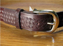#038050. 60 . BROWN Retail $  35.00 Belts by MARK WOLF. BASKET WEAVE 1 1/2 FW:  2
