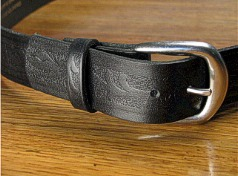 #077646. 64 . BLACK Retail $  35.00 Belts by MARK WOLF. WESTERN EMBOSS 1 1/2 FW:  1,