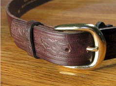 #049951. 50 . BROWN Retail $  34.00 Belts by MARK WOLF. WESTERN EMBOSS 1 1/2 Whs:  1,