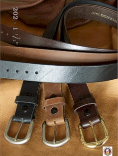 #137083. 46 . BROWN Retail $  34.00 Belts by MARK WOLF. OIL TAN 1 1/2 INCH Whs:  1,