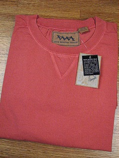 #080004. 2XL BIG. RED Retail $  25.00 Short Slv No Pocket by WHITE MOUNTAIN. PIGMENT JERSEY VNOTCH Whs:  7,FW:  2,