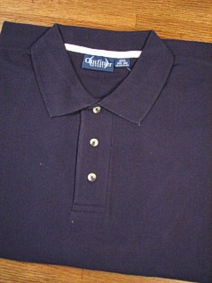 #061753. L TALL. NAVY Retail $  32.00 Short Sleeve by OUTFITTER. PIQUE POLO NON-POCKET Whs A:  5