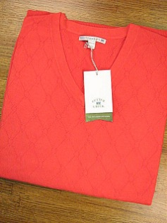 #134598. L TALL. SPICE Retail $  99.00 Sweaters by CUTTER BUCK. DIAMOND STITCH VEST Alpha:  1,
