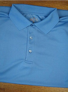 #293219. 3XL BIG. BLUE Retail $  36.00 Dri Power Polo by RUSSELL. DRI-POWER SOLID POLO Whs A:  2 FW:  1