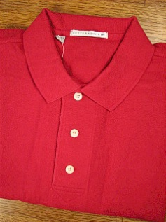 #090771. 3XL BIG. RED Retail $  49.00 Short Sleeve Luxury by CUTTER BUCK. TOURNAMENT POLO <font face=arial size=2><BR>Special Order Item.</font> <B>Item stocked by Manufacturer.  Allow up to 3 weeks for delivery.</B>