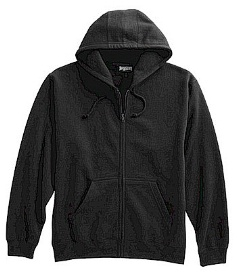 #097712. XL TALL. BLACK Retail $  44.00 Athletic Crew by WHITE MOUNTAIN. FULL ZIP HOODY Whs A:  2