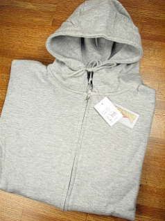 #148807. 2XL TALL. GREY Retail $  44.00 Athletic Crew by WHITE MOUNTAIN. FULL ZIP HOODY Whs: 22,FW:  1,