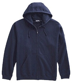 #125428. 2XL TALL. NAVY Retail $  44.00 Athletic Crew by WHITE MOUNTAIN. FULL ZIP HOODY Whs: 10,FW:  1,