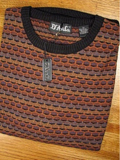 #008615. 4XL TALL. RUST Retail $  69.50 Sweaters by D'AVILA. CREW ALLOVER FANCY FW:  1,