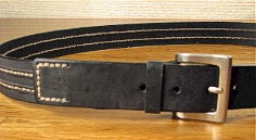 #105857. 48 . BLACK Retail $  40.00 Belts by OUTFITTER. FASHION JEAN BELT Whs A:  2