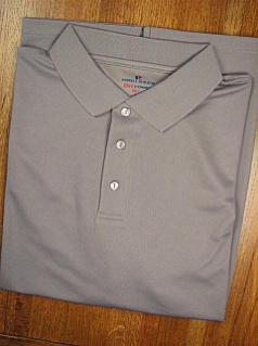 #035091. 4XL TALL. CHARCOAL Retail $  36.00 Dri Power Polo by RUSSELL. DRI-POWER SOLID POLO Whs A:  1