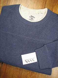 #049766. 2XL BIG. BLUE Retail $  36.00 Long Sleeve by WHITE MOUNTAIN. MESH DOUBLE CREW Whs:  6,