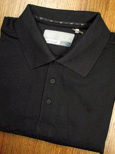 #312626. 4XL BIG. BLACK Retail $  58.00 Short Sleeve Luxury by CUTTER BUCK. DRYTEC CHAMPION POLO <font face=arial size=2><BR>Special Order Item.</font> <B>Item stocked by Manufacturer.  Allow up to 3 weeks for delivery.</B>