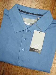#175636. 5XL BIG. BLUE Retail $  58.00 Short Sleeve Luxury by CUTTER BUCK. DRYTEC CHAMPION POLO <font face=arial size=2><BR>Special Order Item.</font> <B>Item stocked by Manufacturer.  Allow up to 3 weeks for delivery.</B>