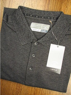 #100728. 3XL TALL. CHARCOAL Retail $  58.00 Short Sleeve Luxury by CUTTER BUCK. DRYTEC CHAMPION POLO Whs A:  3