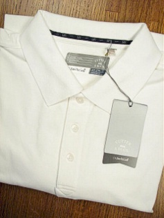 #166171. 4XL BIG. WHITE DRYTECH CHAMPION POLO Short Sleeve Luxury by CUTTER BUCK. <font face=arial size=2><BR>Special Order Item.</font> <B>Item stocked by Manufacturer.  Allow up to 3 weeks for delivery.</B>