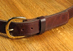 #246668. 62 . BROWN Retail $  35.00 Belts by MARK WOLF. OIL TAN 1 1/4 STITCH Whs:  1,