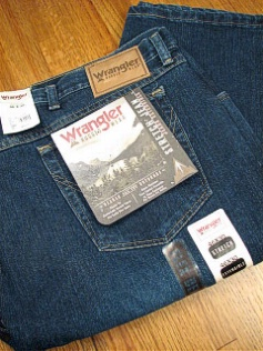 #126104. 52 34. NAVY Retail $  46.00 Cotton Jean by WRANGLER. RELAXED FIT JEAN Whs A:  2 <BR><font size=2><b>Incl units held @ mfg.